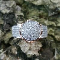 Cincin Terbaru Kaka Emas Putih Full Berlian Eropa