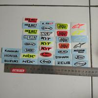 sticker samping visor merk helm kbc,kyt,shoei,nhk,ls2,pinlock,nolan