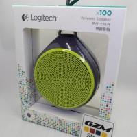 New! Logitech X100 Mobile Wireless Speaker Bluetooth - Garansi Resmi