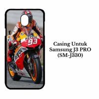Casing SAMSUNG J3 Pro SM J330 Marquez Moto GP Custom Hard Case Cover
