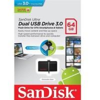 New! Sandisk Flashdisk Ultra Usb 3.0 Dual Drive Otg 64Gb - Garansi