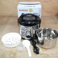 New! Sanken Magic Com Rice Cooker 1.2 Liter Stainless Sj150Sp - Sj 150