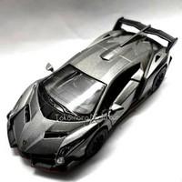 Diecast miniatur mobil sport Lamborghini veneno hitam fatih