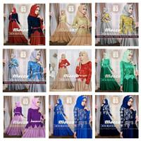 Jual premium branded mewah gaun maxi dress gamis baju wanita muslim pesta Murah