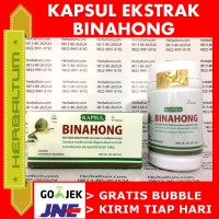 Kapsul Daun Binahong - Obat Asam Urat Tinggi Stroke Ambeien Sariawan