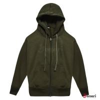 Jaket Sweater Hoodie Anak Polos Hijau Army
