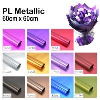 3 Lembar PL Metalic (Wrapping Bunga Murah)