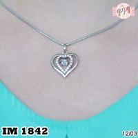 A30315 Kalung Love Silver M 1842