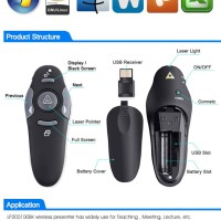 Remot Kontrol Presentasi, Laser Pointer 2.4G RF Wireless