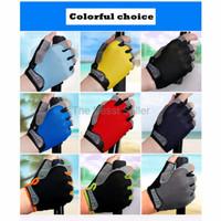 Harga paling murah sarung tangan half finger sepeda gym size l | antitipu.com