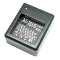 Dual Battery Charger for Xiaomi Yi Battery - Black