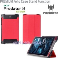 Ready!! Flipcover for ACER Predator 8 GT810 : PREMIUM Folio Case Sta L