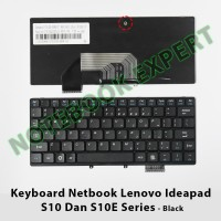 Keyboard Netbook Lenovo Ideapad S10 Dan S10E Series - Black