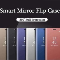 Case Samsung Galaxy J7 Pro J730 PU Leather Luxury Mirror Clear View Hp
