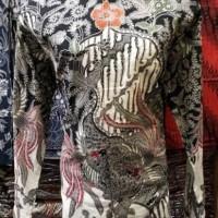 Kemeja Batik Solo Kombinasi Tulis Lengan Panjang