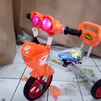 sepeda anak roda tiga besi family 339 h mainan icmusik kacamata minion