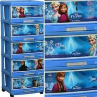 Jual lemari plastik napolly 5 susun motif frozen Murah