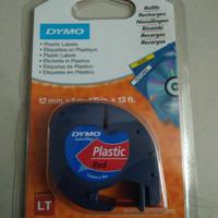 Dymo label Plastic Red 12mm4m ORIGINAL