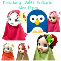 Hijab Anak Bayi Bunga Polkadot