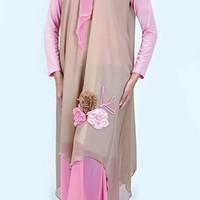 Gamis Muslimah Casual Wanita set 342-31