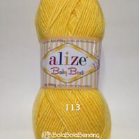 Benang Rajut Import Alize Baby Best 113 Yellow