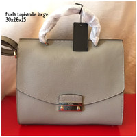 furla tophandle large tas asli original bag branded bag authentic bag