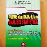 Rumus dan Data dalam Aplikasi Statistika - Akdon