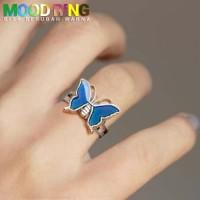 Cincin Korea Mood Ring Butterfly Shape bisa berubah warna