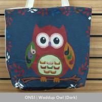 Owl Night Series | Tas Kanvas - Tote Bag Wanita