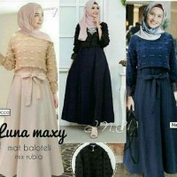 Dress Luna Maxy Rubi/Gamis Wanita balotely mix rubia