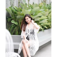 SUNFLOWER Outer Beach Top Kimono Bikini Outer Cover Up Baju Renang