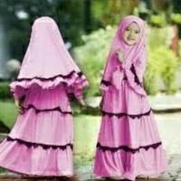 CAQ Maxi Zema Kid Baby Pink,merah,Benhur,coksu baju muslim anak