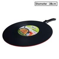 Makcook Wajan Crepes Pan 28 cm datar - Merah
