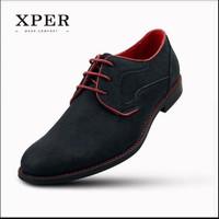 Harga original brand xper casual men dress shoes lace up sepatu pria   antitipu.com