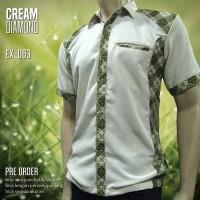 SERAGAM BATIK Warna Cream EX-063   Batik Seragam Kantor   Batik Kerja