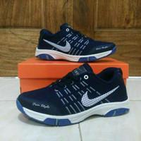 Sepatu Sport Nike Airmax Badminton / Grade Ori Vietnam / Navy