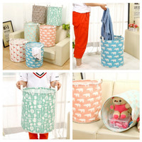 Canvas Basket Bin / Keranjang Laundry Cucian Mainan Storage Organizer