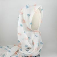 Hijab Kirana White / pita anak / pita bayi / hijab / ribbonandco