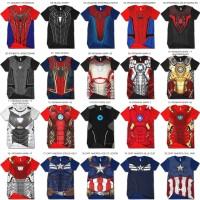 kaos 3d superhero iron man spiderman avengers superman batman