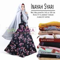 Setelan Gamis Muslimah + jilbab (INAYAH SYARI) Ori Naur Murah
