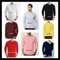 (Promo!!) Kaos Polos Cotton Combed 30S Lengan Panjang
