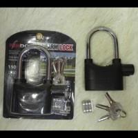 Jual (Murah!!) Kunci Rumah / Motor Gembok Alarm Panjang 12Cm Merek Kinbar Murah