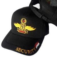 TOPI SECURITY WINGS STAR / TOPI SATPAM / TOPI JALA DOBEL MESS HITAM