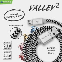 Kabel Data Hippo Micro USB Valley 2 Kabel Charger Fast Charging 100cm