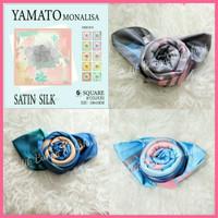 Yamato Monalisa Hijab Jilbab Kerudung Segi Empat Satin Silk Maxmara