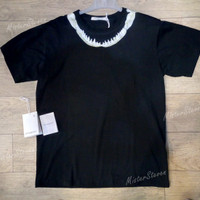 Kaos Pria T-Shirt Givenchy Shark Teeth Black GVM-9911#