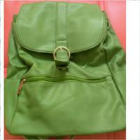 Tas ransel wanita Fladeo warna hijau preloved