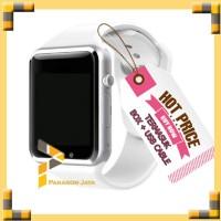 SMART WATCH A1 / SMARTWATCH U10 PUTIH WHITE SIMCARD MICRO MEMORY CARD