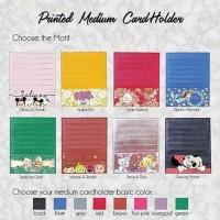 Custom Initial Name Medium Card Holder Printed Katalog