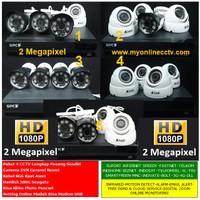 Paket 4 Camera CCTV AHD 1.3 MP Komplit DVR Hardisk Kamera Outdor Indor